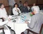 لاہور: وزیر جنگلات پنجاب محمد سبطین خان محکمہ جنگلات میں اجلاس کی صدارت ..