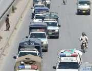 اسلام آباد: وفاقی پولیس امن و امان کی صورتحال قائم رکھنے کے لیے فلیگ ..
