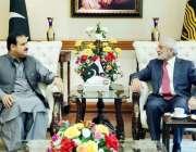 لاہور: وزیر اعلیٰ پنجاب سردار عثمان بزدار سے وزیر اعلیٰ آفس میں چیئرمین ..