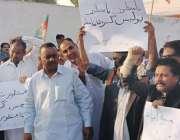 کراچی: پاکستان تحریک انصاف سندھ کے زیر اہتمام مطالبات کے حق میں احتجاجی ..