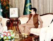 اسلام آباد: صدر مملکت ڈاکٹر عارف علوی سے چیئرمین سینیٹ صادق سنجرانی ..