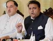اسلام آباد: پاکستان تحریک انصاف کے مرکزی سیکرٹری اطلاعات فواد چوہدری ..