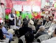 پشاور: تاجر اتحاد کینٹ کے چیئرمین مجیب الرحمن کینٹ کے تاجروں کے اجلاس ..