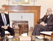 اسلام آباد: صدر آزاد جموں و کشمیر سردار مسعود خان سے پاکستان میں یورپین ..