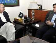 اسلام آباد:وفاقی وزیر منصوبہ بندی ، ترقی و اصلاحات مخدوم خسرو بختیاراور ..