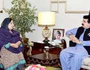 اسلام آباد: قائمقام صدر محمد صادق سنجرانی سے ایوان اقبال میں سینیٹر ..