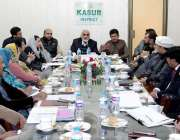 قصور: رکن قومی اسمبلی ملک رشید احمد خاں ڈسٹرکٹ کوآرڈینیشن کمیٹی کے ..