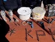 ہنگو: لختی بانڈہ میں تھانہ سٹی پولیس کے چھاپے کے دوران برآمد کئے گئے ..