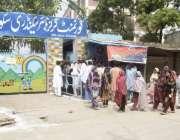 لاہور: عام انتخابات 2018  جلو موڑ کے علاقہ میں پولنگ اسٹیشن کا ایک راستہ ..