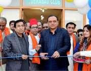 حیدر آباد: صوبائی وزیر اوقاف فراز ڈیرو سندھ صوفی میلے کا افتتاح کررہے ..