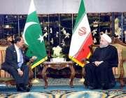 چنگ ڈاؤ: صدر مملکت ممون حسین اور ایرانی صدر ڈاکٹر حسن روحانی ملاقات ..