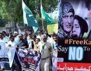 حیدر آباد: سول سوسائٹی کے زیر اہتمام مقبوضہ کشمیر پر بھارتی قبضہ کے ..