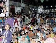 لاہور: تحریک لبیک کے انتخابی جلسہ سے علامہ رضی حسینی خطاب کر رہے ہیں۔