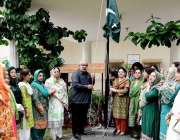 راولپنڈی: ڈائریکٹر کالجز ڈاکٹر جہانزیب ڈاکٹر پروفیسر سائرہ مفتی پرنسپل ..