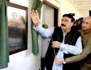 لاہور: وفاقی وزیر ریلویز شیخ رشید احمد ریلویز پولیس لائنز میں واٹر ..