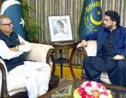 اسلام آباد: صدر مملکت ڈاکٹر عارف علوی سے وزیر مملکت برائے داخلہ شہر ..