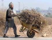 راولپنڈی: خانہ بدوش شخص بطور ایندھن استعمال کرنے کے لیے شخص لکڑیاں ..