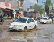 فیصل آباد: معمولی بارش کا جڑانوالہ روڈ پر کھڑے پانی واسا کی اعلیٰ کارکردگی ..