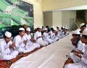 سرگودھا: یوم دفاع پاکستان کے موقع پر شہداء کے ایصال ثواب کے لیے فاتحہ ..