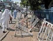 راولپنڈی: ٹریفک پولیس کی نا اہلی، راجہ بازار میں ٹریفک چوکے کے باہر ..