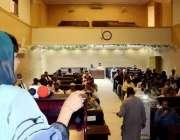 اٹک: ممبر بورڈ آف گورنر نمل کالج محترمہ علیمہ خان جناح ہال اٹک میں کالج ..