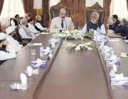مظفر آباد: صدر آزاد جموں کشمیر سردار مسعود خان ایک اجلاس کی صدارت کر ..