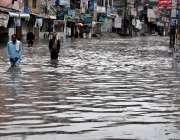 راولپنڈی: ناقص سیوریج سسٹم کے باعث بدھ کی صبح ہونے والی بارش کے دوران ..