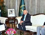 اسلام آباد: صدر مملکت ڈاکٹر عارف علوی سے چیئرمین بیسٹ وے گروپ محمد انور ..