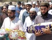 پشاور: پولیو ویکسینیشن سے شہید ہونیوالے بچوں کی نماز جنازہ ادا کرنے ..