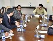 اسلام آباد: چیئرمین سینیٹ محمد صادق سنجرانی چینی وفد کے ہمراہ تبادلہ ..