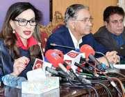 اسلام آباد: پاکستان پیپلز پارٹی کی مرکزی رہنما و سینیٹر شیریں رحمان ..