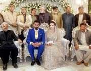 لاہور: تحریک انصاف کے رہنما چوہدری ریاض کے بیٹے کی دعوت ولیمہ کی تقریب ..