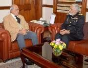 لاہور: گورنر پنجاب ملک محمد رفیق رجوانہ سے کمانڈر سنٹرل پنجاب کمانڈنٹ ..