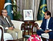 اسلام آباد: صدر مملکت ڈاکٹر عارف علوی سے وفاقی محتسب انشورنس محمد رئیس ..