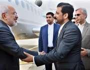 اسلام آباد: ایرانی وزیر خارجہ محمد جاوید ظریف کا اسلام آبادائیرپورٹ ..