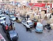 کراچی: عیدالاضحی کی آمد کے موقع پر شہری قربانی کے لیے جانور خرید کرسوزوکی ..