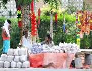 اسلام آباد: وفاقی دارالحکومت میں دکاندار قربانی کے جانوروں کا چارہ ..