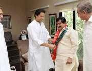 اسلام آباد: چیئرمین پاکستان تحریک انصاف عمران خان، حلقہ پی بی277مظفر ..