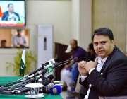 اسلام آباد: وفاقی برائے اطلاعات و نشریات فواد حسین چودھری پریس کانفرنس ..
