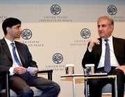 واشنگٹن: وزیر خارجہ مخدوم شاہ محمود قریشی یونائیٹڈ سٹیٹ انٹسیٹیوٹ ..