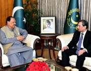 اسلام آباد: صدر مملکت ممنون حسین سے کامرس اینڈ ٹیکسٹائل کے وزیر محمد ..