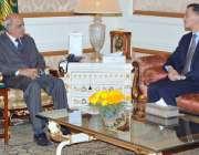 لاہور: گورنر پنجاب ملک محمد رفیق رجوانہ سے پاکستان میں چائنہ کے سفیر ..