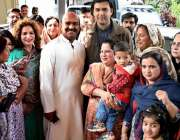اسلام آباد: پیپلز پارٹی پنجاب خواتین ونگ کی سیکرٹری جنرل نرگس فیض ملک ..
