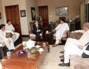 اسلام آباد: چیئرمین پاکستان تحریک انصاف عمران خان سے جاپان کے سفیر ..