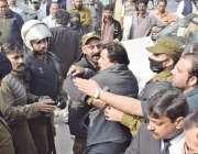 لاہور: قومی اسمبلی میں قائد حزب اختلاف محمد شہباز شریف کی پیشی کے موقع ..