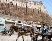 حیدر آباد: پکا قلعہ کی دیوار خستہ حالی کی شکار ہے انتظامیہ کی توجہ کی ..
