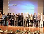 اسلام آباد: چیئرمین ایچ ایس سی ڈاکٹر مختار احمد اور وائس چانسلر ایئریونیورسٹی ..