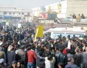 فیصل آباد: واسا ملازمین کے ساتھ وفاقی وزیر مملکت عابد شیر علی کے خلاف ..
