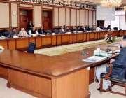 اسلام آباد: وزیر اعظم عمران خان وفاقی کابینہ کے اجلاس کی صدارت کررہے ..