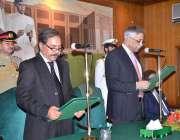 کراچی: گورنر سندھ محمد زبیر نگران وزیراعلیٰ سندھ فضل الرحمن سے ان کے ..